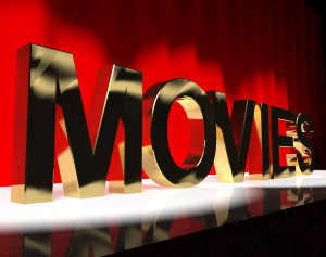 Movies Word On Stage Shows Cinema And Hollywood